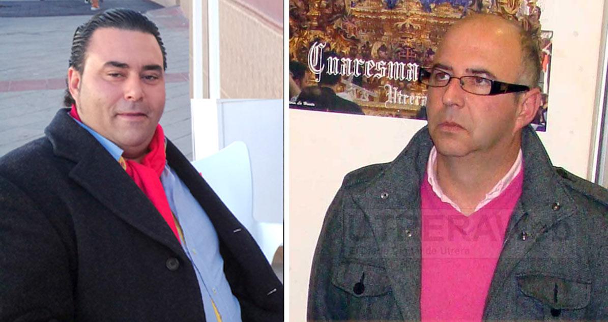 José Antonio López y Dionisio Chuan miembros destacados de El Resucitado de Utrera.