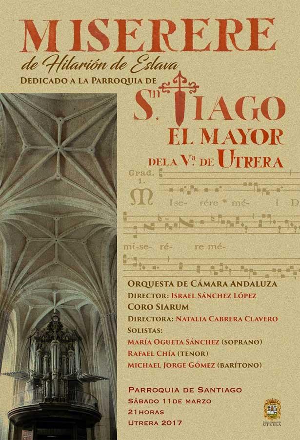Cartel anunciador del concierto del Miserere en Utrera.