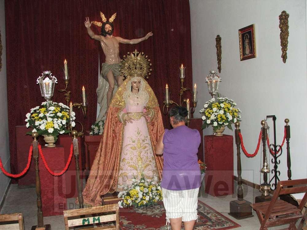 Imágenes de Jesús Resucitado y la Viregen de la Estrella que venera este colectivo cofrade de Utrera.