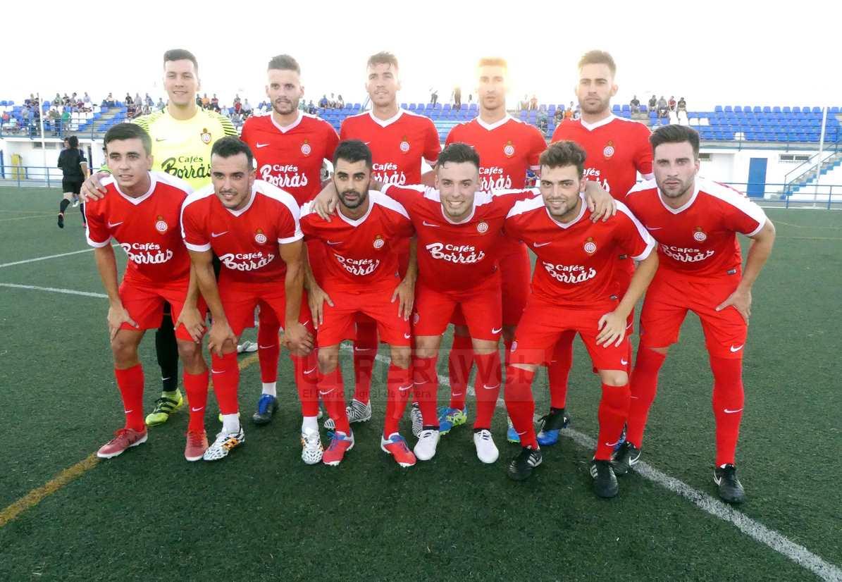 Formación del C.D. Utrera que jugó en la primera parte del partido ante el Camas C.F.