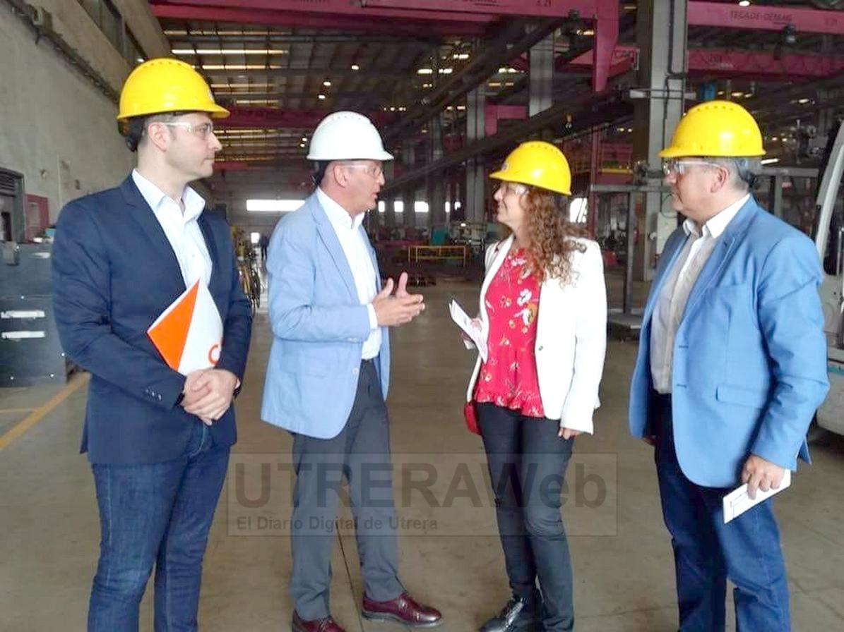 Reciente visita de Miembros de Ciudadanos a la empresa  originaria de Utrera, Tecade.