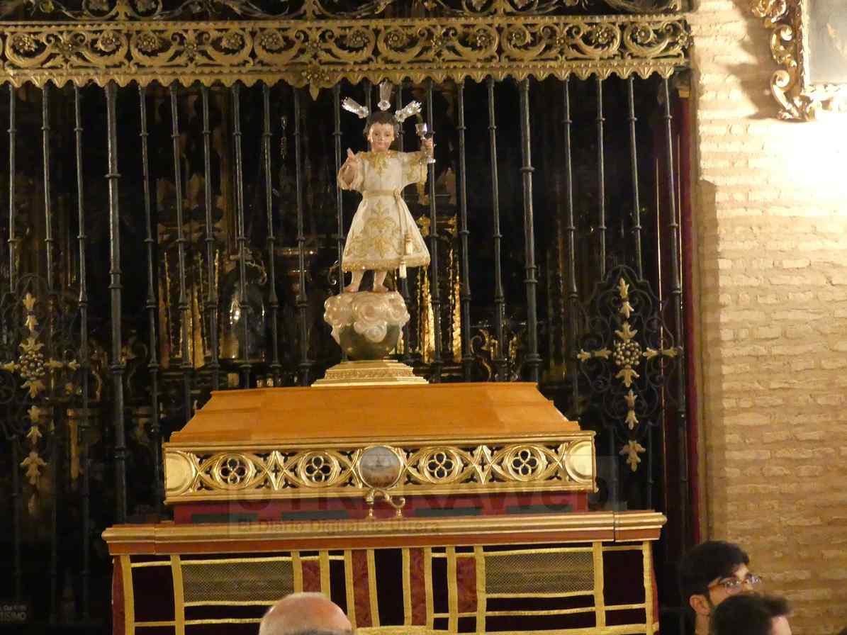 Paso del Niño Jesús del Corpus Chico de la parroquia de Santiago de Utrera.