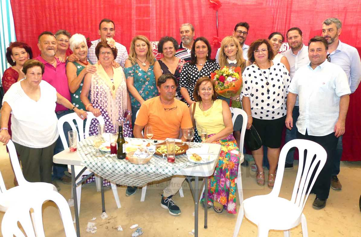 Imagen del homenaje de la pasada feria en la caseta del PSOE a la secretaria general de UGT Andalucía, Carmen Castilla.