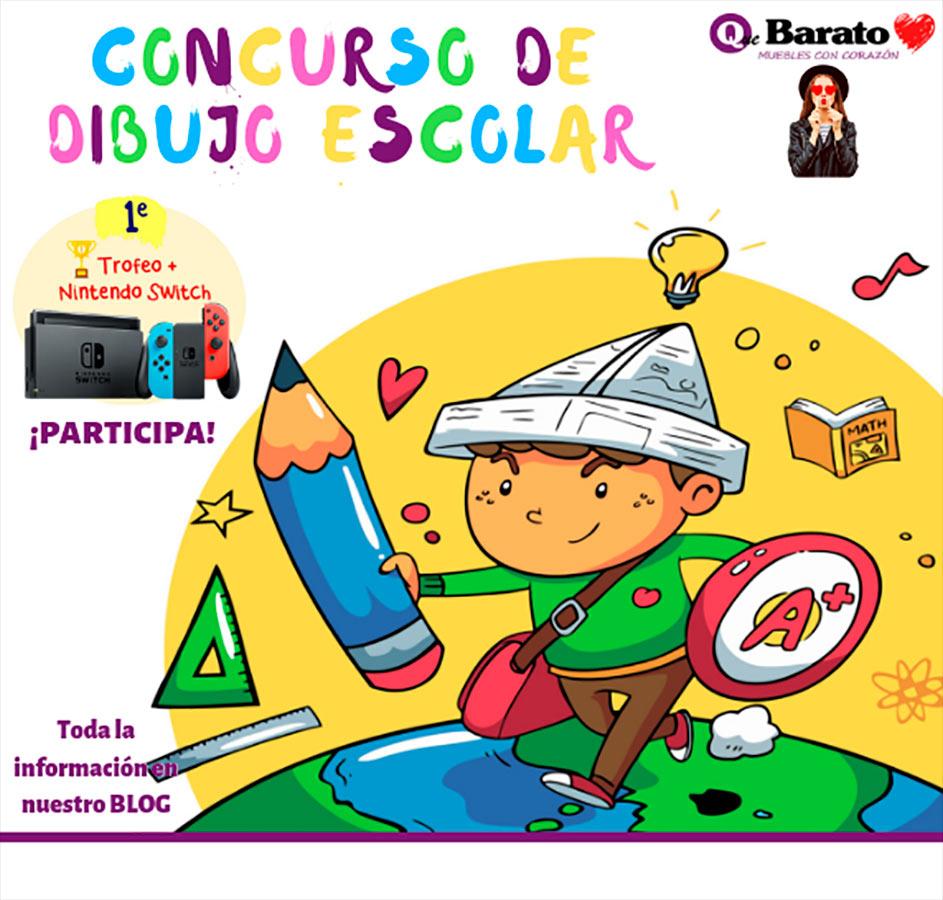 Cartel de Concurso de dibujo Escolar organizado por la firma implanta en Utrera