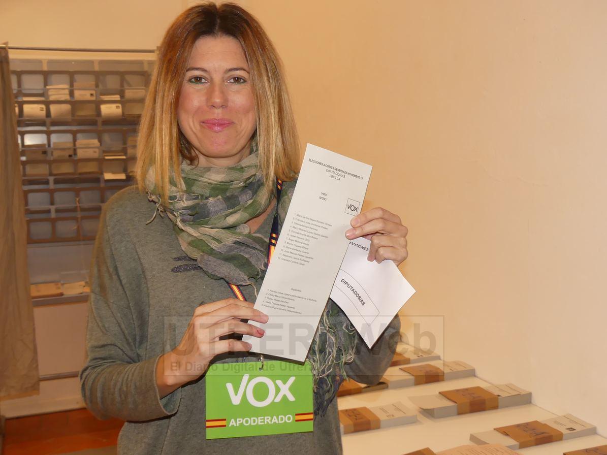 Natalia Gallardo, responsable comarcal de Vox en la zona de Utrera.