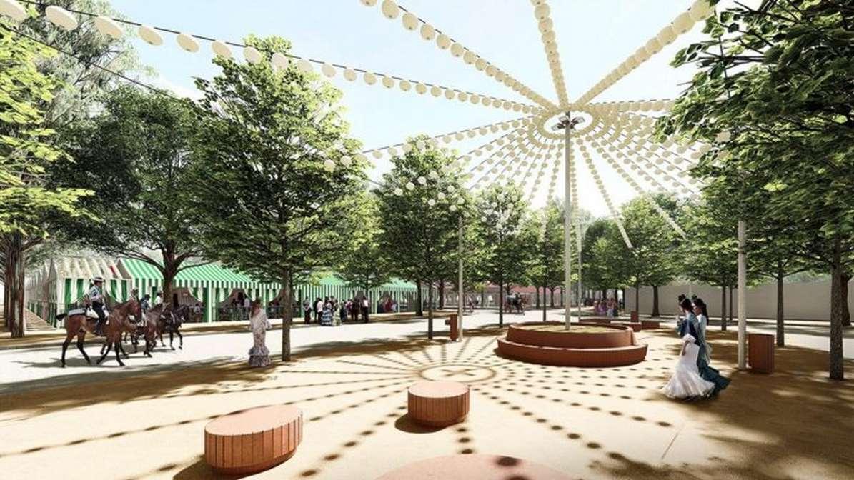 Recreación virtual del proyecto del nuevo recinto ferial de Utrera.