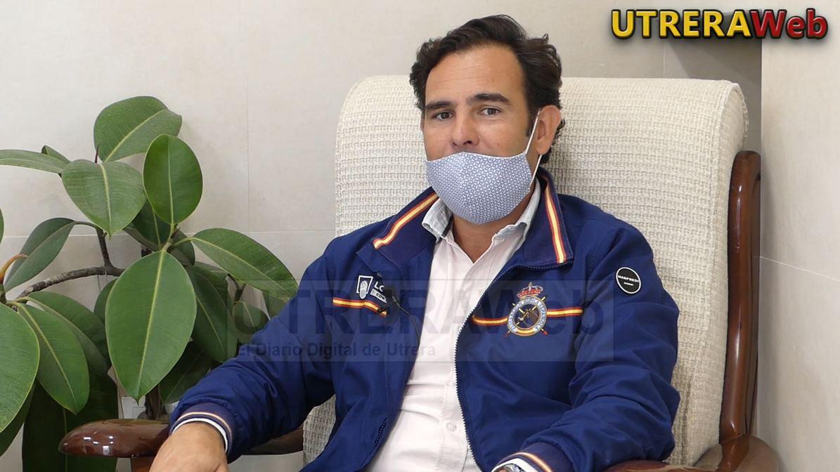 El jinente de Utrera, Antonio Cejudo, en un momento de la entrevista realizada por UTRERAWeb.