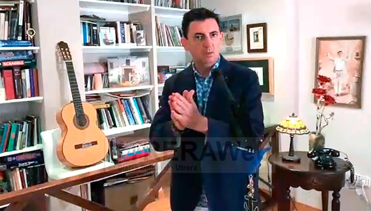 José Antonio Miura 'El Marinero', uno de los artistas principales de Utrera en este videoclip.