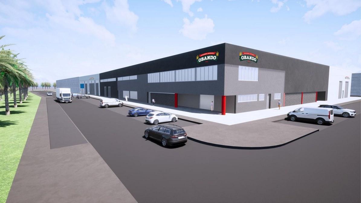 Otra imagen del proyecto de la neuva fábrica en Utrera de Panadería Obando.