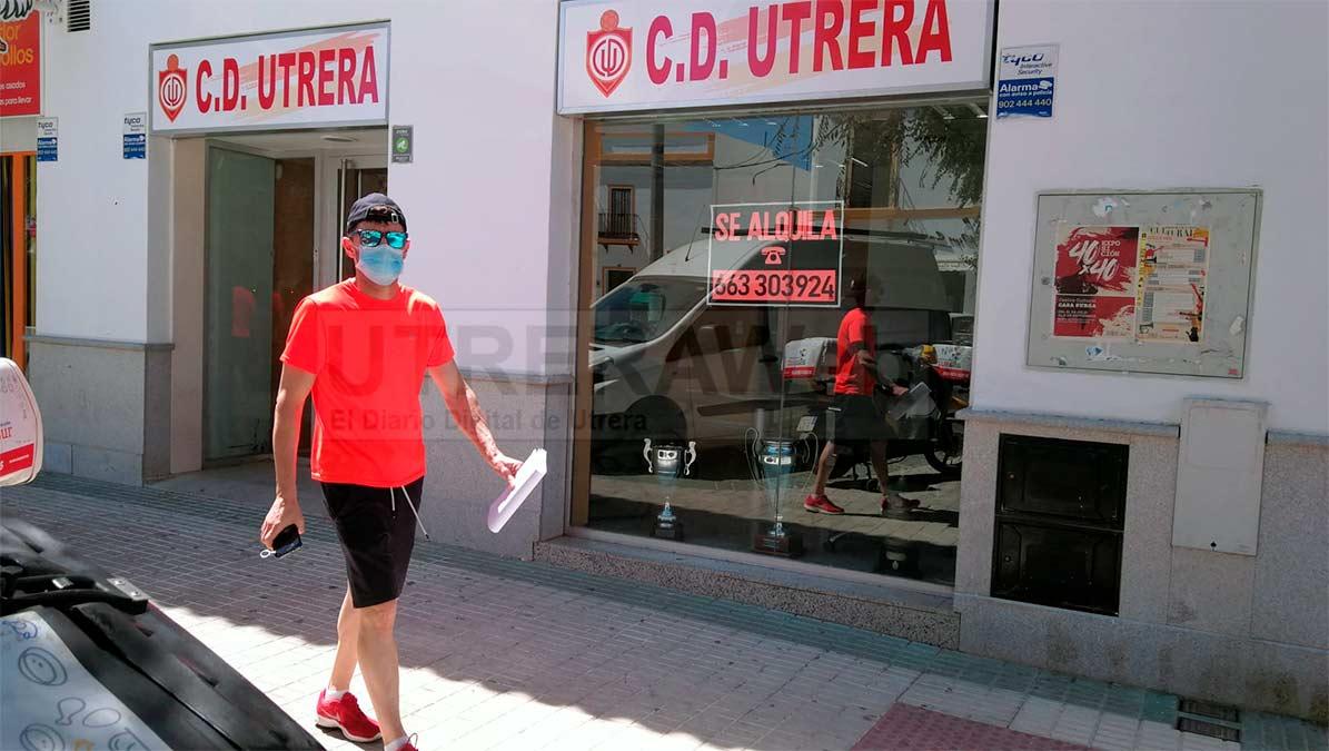 Nuevas oficinas del C.D. Utrera en la calle María Auxiliadora.