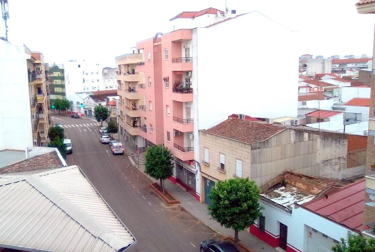 Imagen captada desde el balcón del músico de Utrera en Almendralejo.