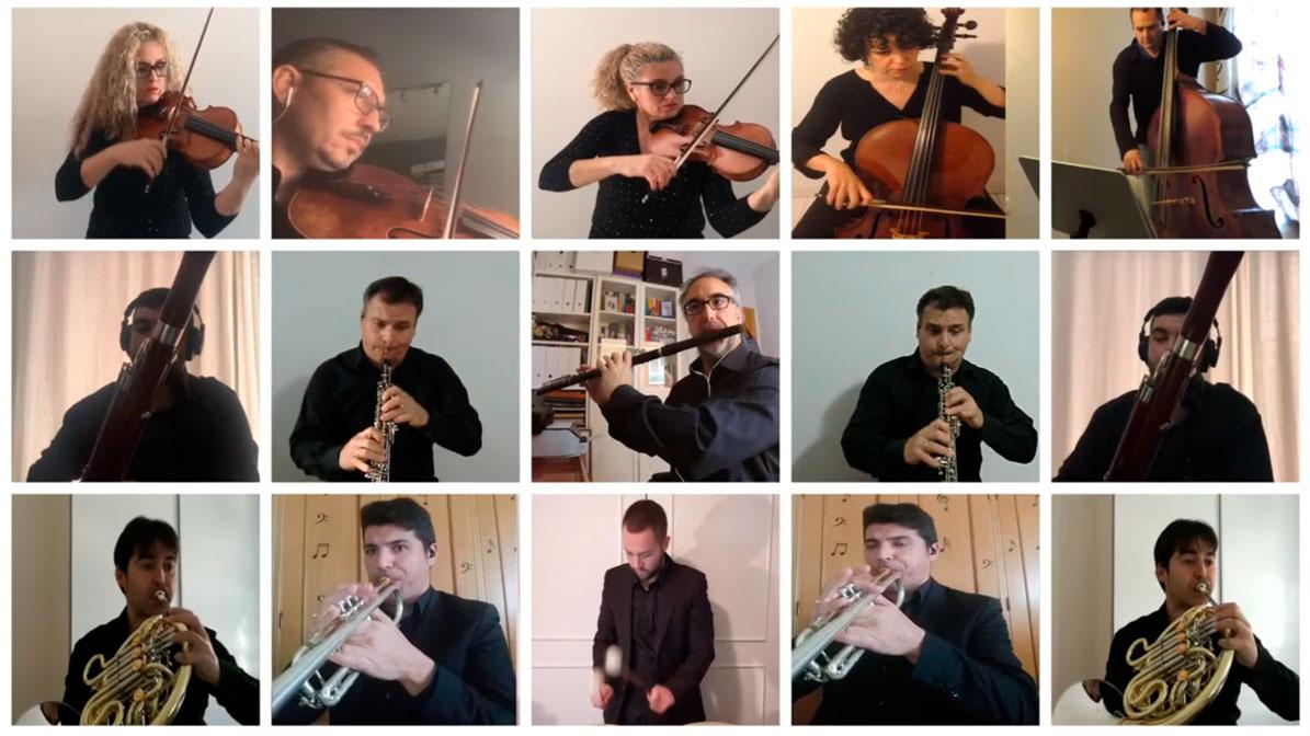 Un momento de actuación de la Orquesta Sinfónica de Utrera.