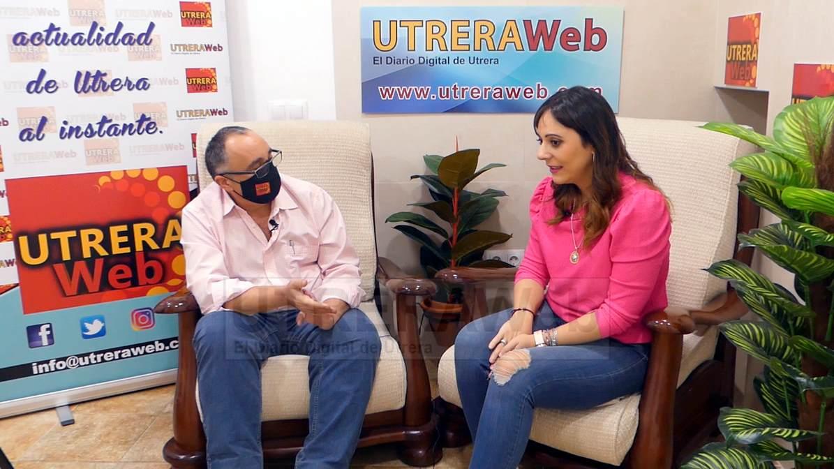 Sara Jiménez en un momento de la entrevista mantenida con UTRERAWeb.