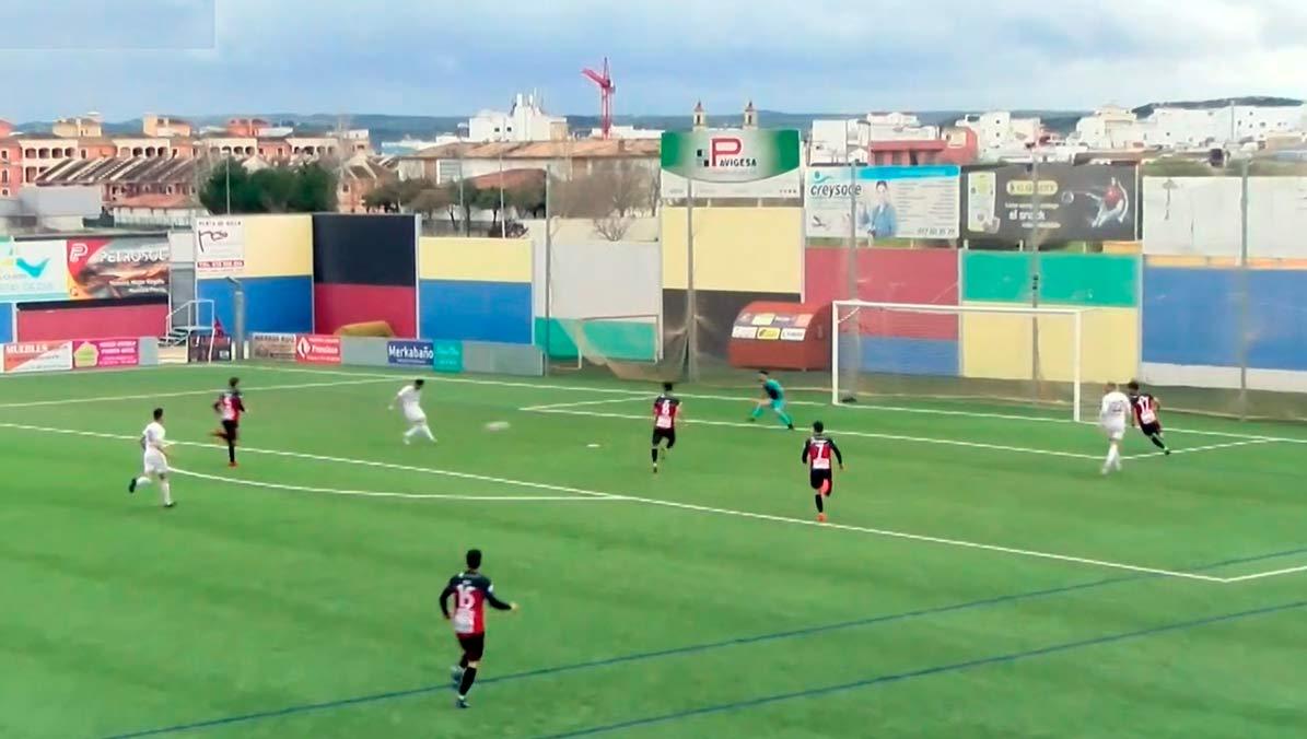 Primer gol del C.D. Utrera obra de Ranchero.