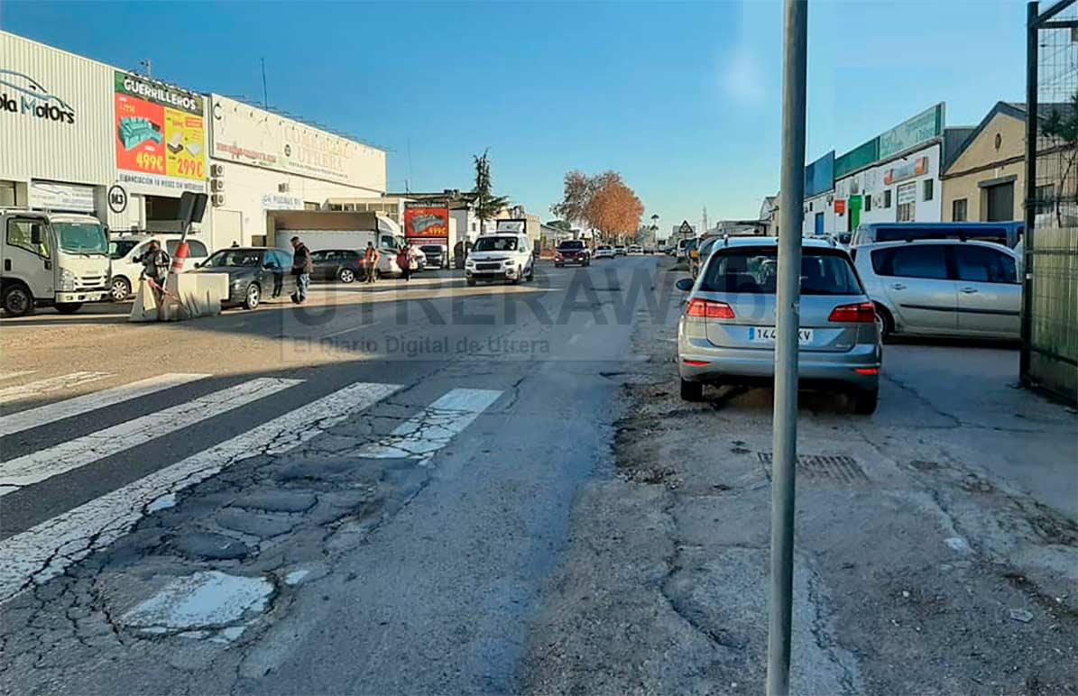 Vista del polígono industrial de la Carretera Amarilla de Utrera.