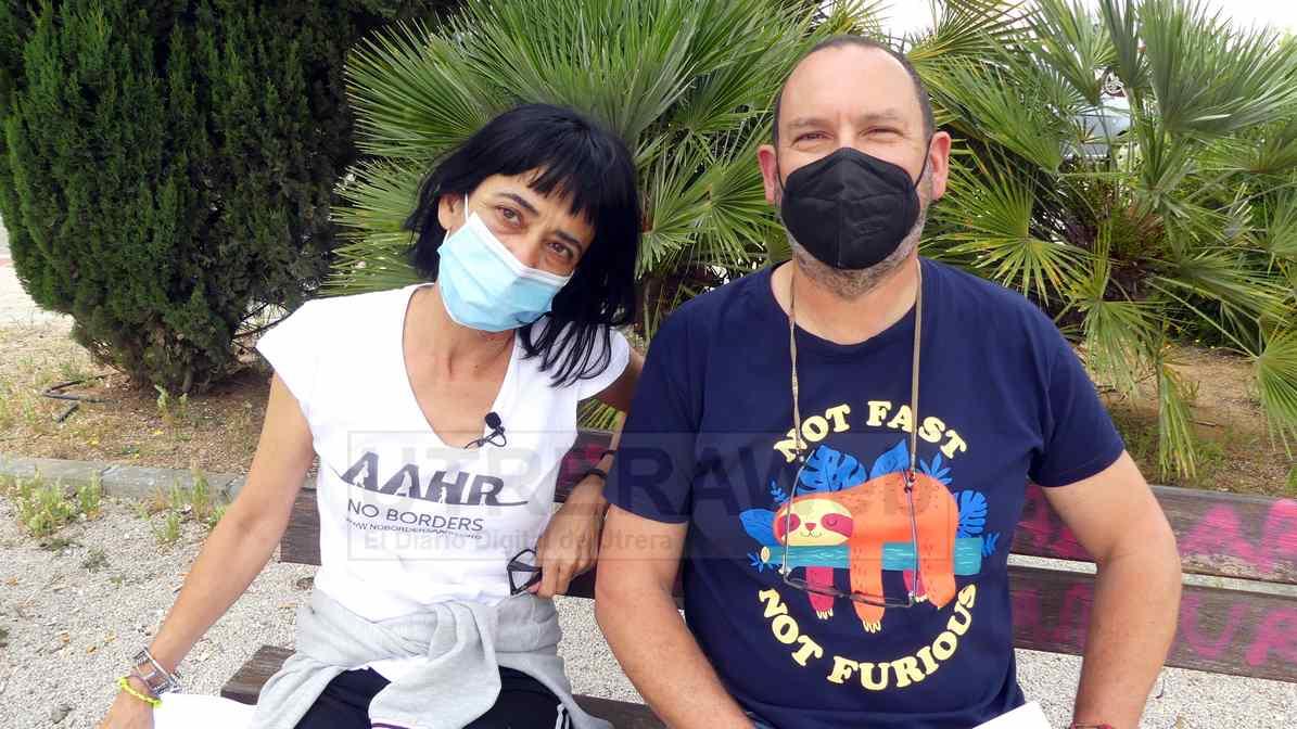 Carmen Gálvez y Jesús Jiménez integrantes del colectivo Red Utrera por el Clima.