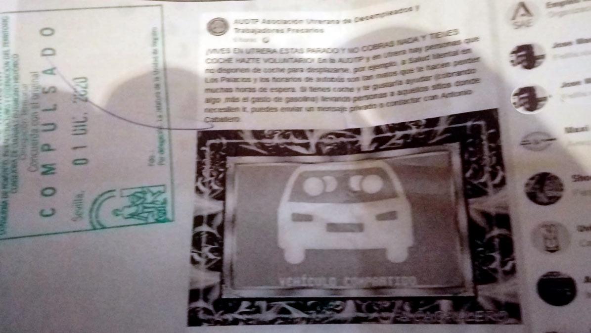 Mensaje insertado en la redes sociales que dio origen a la sanción al presidente de la AUDTP.