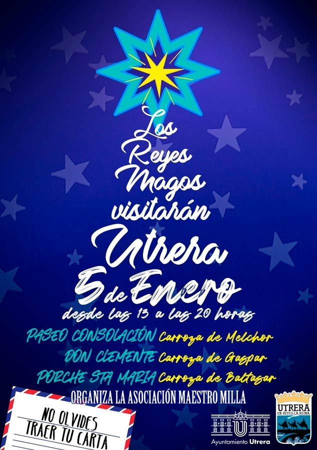 Cartel del evento de los Reyes magos 2020 de Utrera.