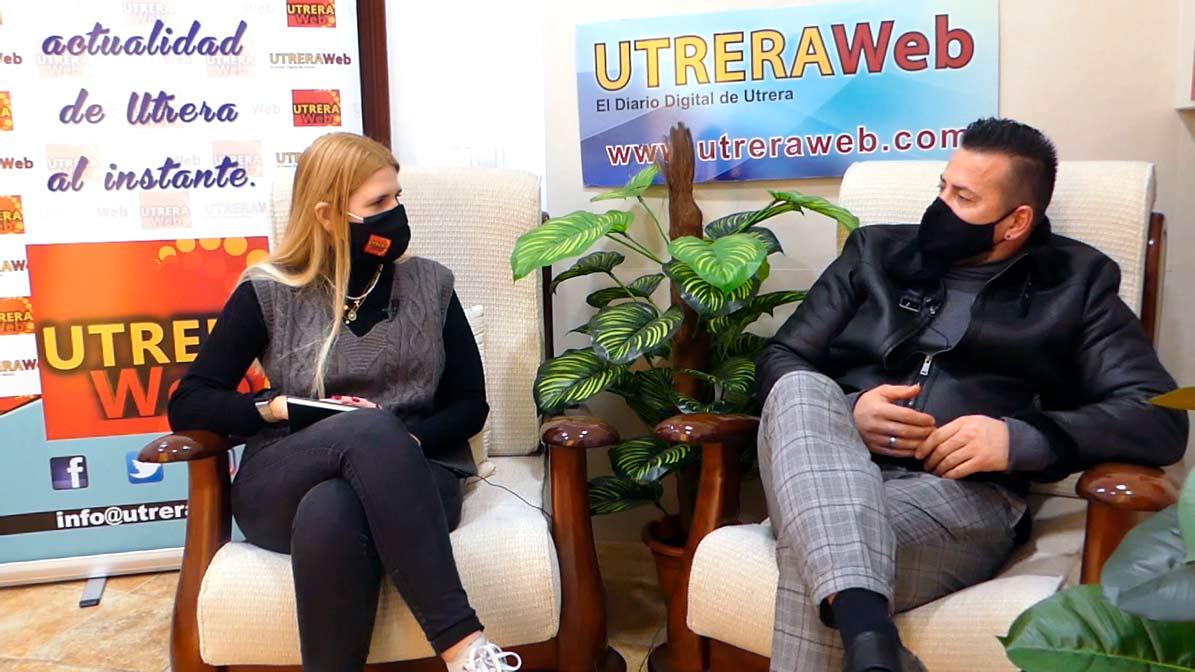 El actor porno de Utrera en un momento de la entrevista mantenida con UTRERAWeb.