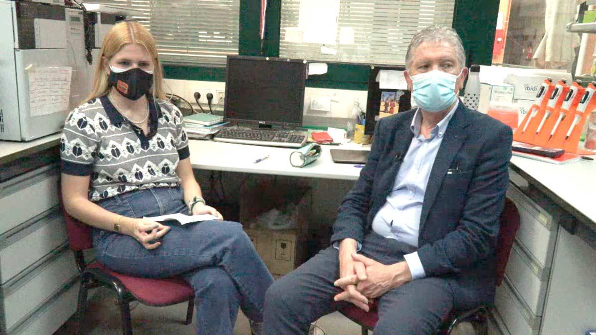 Un momento de la entrevista realizada por UTRERAWeb al investigador José Antonio Sánchez.
